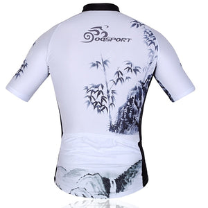 Bamboo Pattern Men Summer Bicycle Cycling Clothing Shirt Jerseys Cycling Shorts