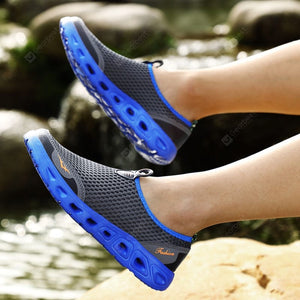 Men's Hollow-out River Tracing Casual Shoes Slip-on