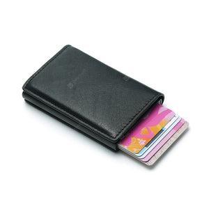 RFID Blocking Wallet Ultra Slim Bifold Leather Card Holder