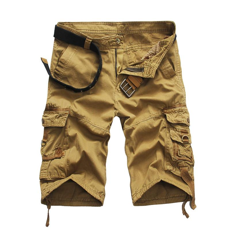 Cool Camouflage Summer Cotton Men Cargo Shorts