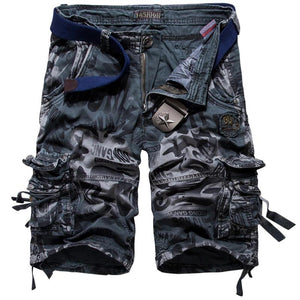 Casual Camouflage Printed Pure Color Men's Shorts