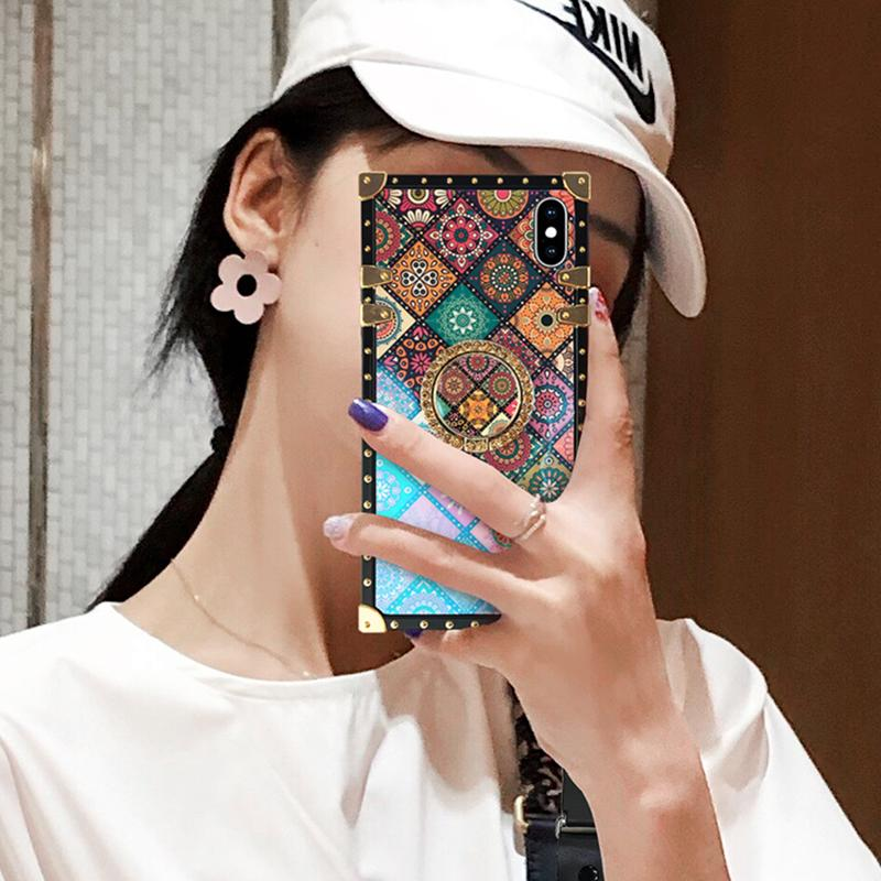 High Quality Bohemian Lanyard Ring Phone Case For Huawei and Xiaomi
