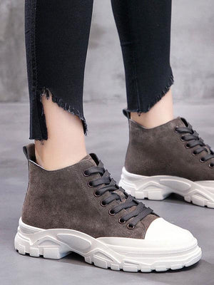 Pure Color Martin Boots Women's Sneakers