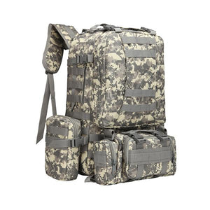 New Camping Camo Tear-resistant Tactical 4 In One  backpack