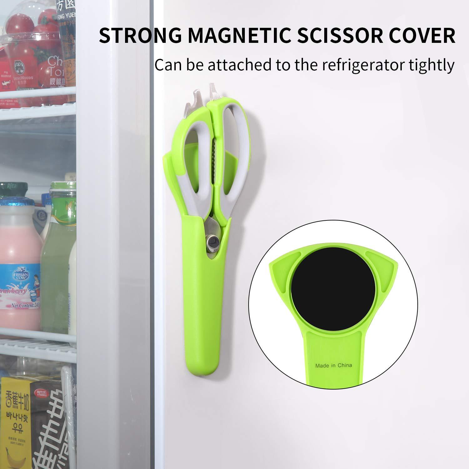 Multi-functional Kitchen Shears With Magnetic Holder