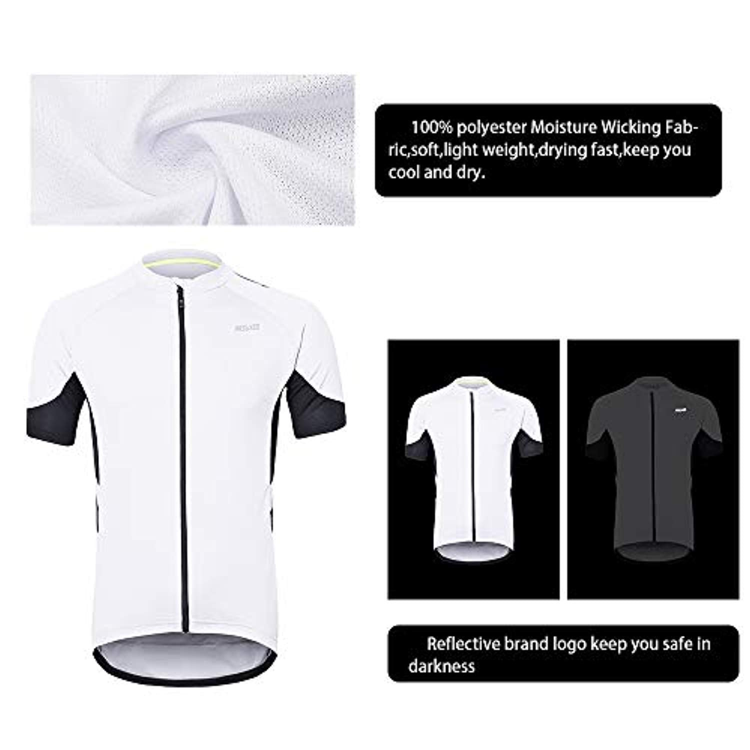 Men's Short Sleeves Cycling Jersey Bicycle MTB Bike Shirt 636