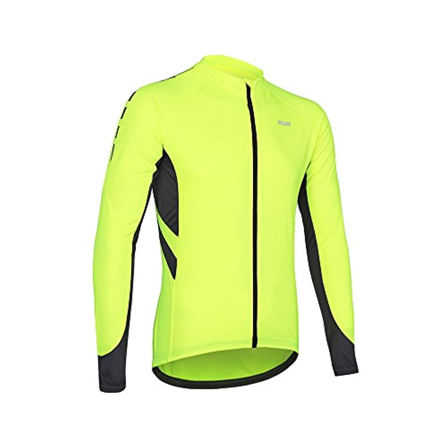 ARSUXEO Men's Full Zipper Long Sleeves Cycling Jersey Bicycle MTB Bike Shirt