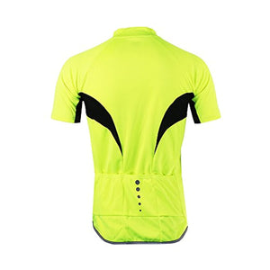 Men's Slim Fit Cycling Jersey Short Sleeves Bike Bicycle MTB Shirt
