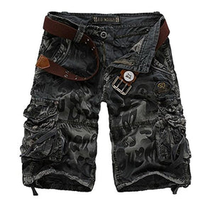 Mens Causal Camoflage Cargo Shorts Cotton Multi Pocket Sports-Wear