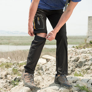 Mens Outdoor Elastic Detachable Water Repellent Sport Pants