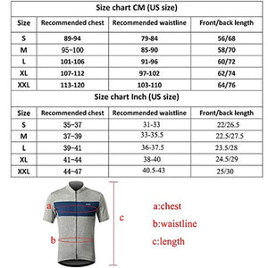 Bluesea Men's Elastic Cycling Jersey Short Sleeves MTB Bike Shirt 639