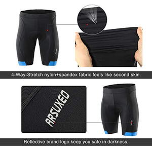 Bluesea Men's 3D Padded Cycling Shorts MTB Bike Bicycle Compression Shorts 563