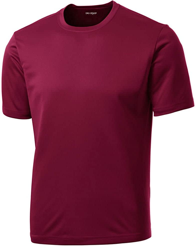 Men's Big & Tall Short Sleeve Moisture Wicking Athletic T-Shirts