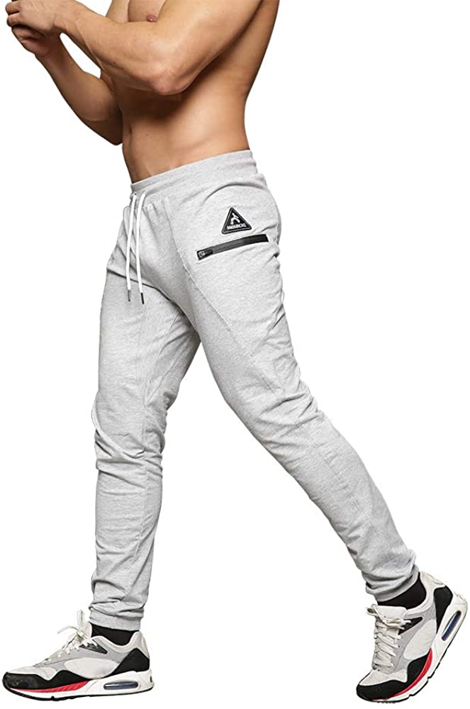 Mens Slim Fit Joggers Tapered Sweatpants for Gym Running Athletic