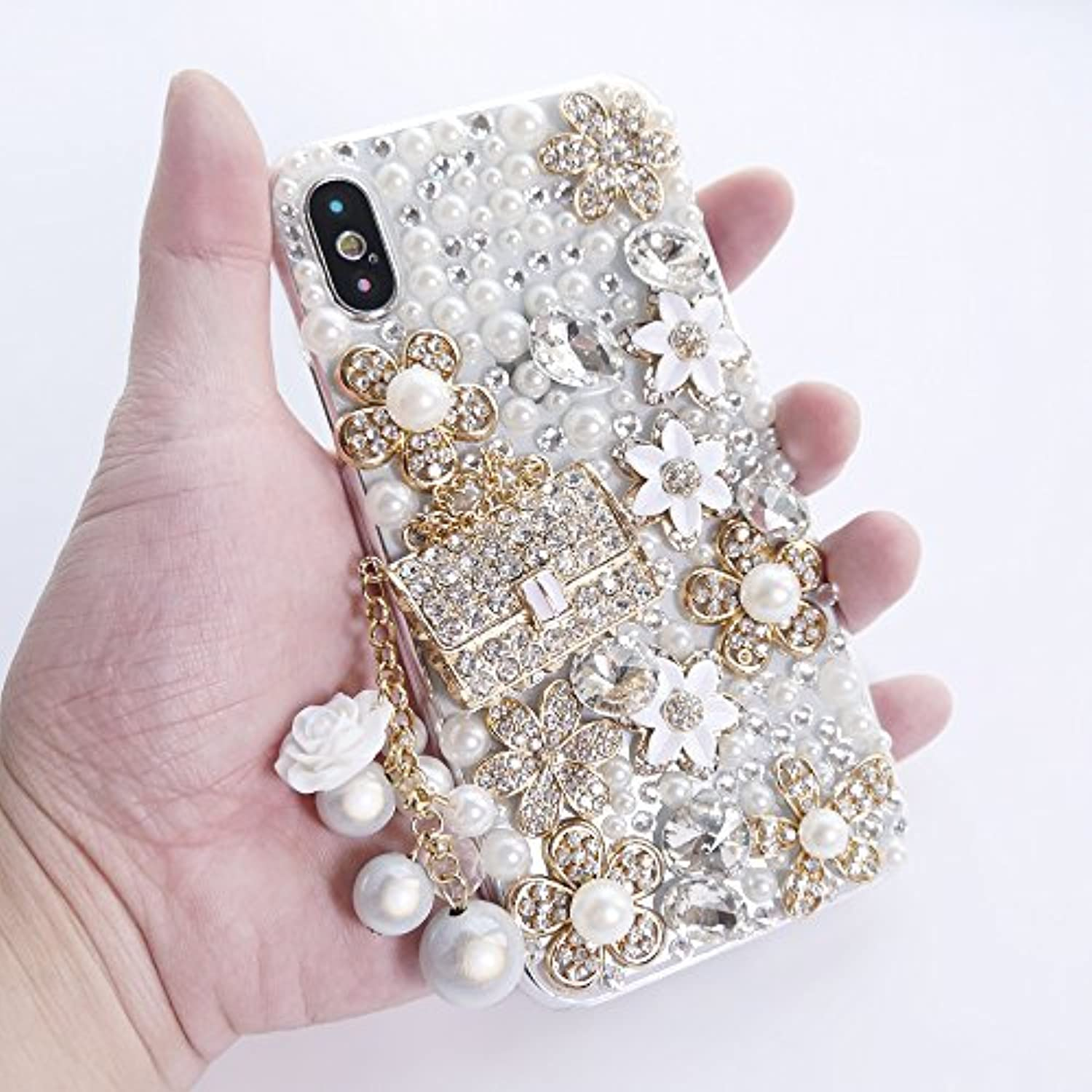 Cute Girly Bling Diamond Snow Flower, Premium for iPhone Case