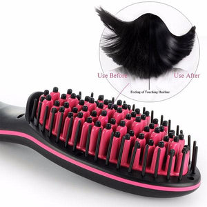 Straightener & De-tangling Hair Brush (50% Off Today Only!)