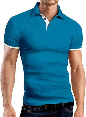 Men's Long Sleeve Polo Shirts Casual Slim Fit Basic Designed Cotton Shirts