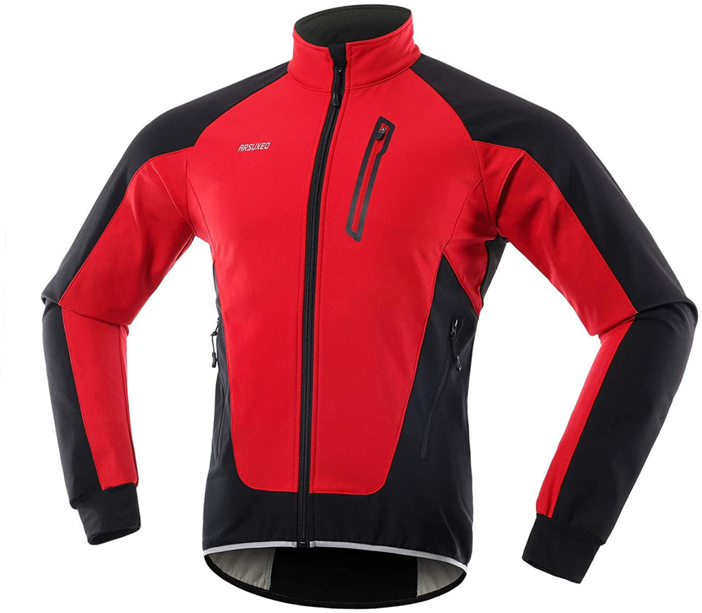 Men's Winter Cycling Jacket Thermal Fleece Softshell MTB Bike Outwear Windproof Waterproof 20B