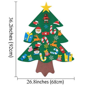 DIY felt christmas tree(Best Gift For Children.)