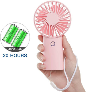 4000 mAh Mini Battery Operated Small Fan with 3 Speeds