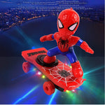 Spiderman/Iron man Scooter Electric Car Stunt Music led Light Toys【Buy 3  Free Shipping】