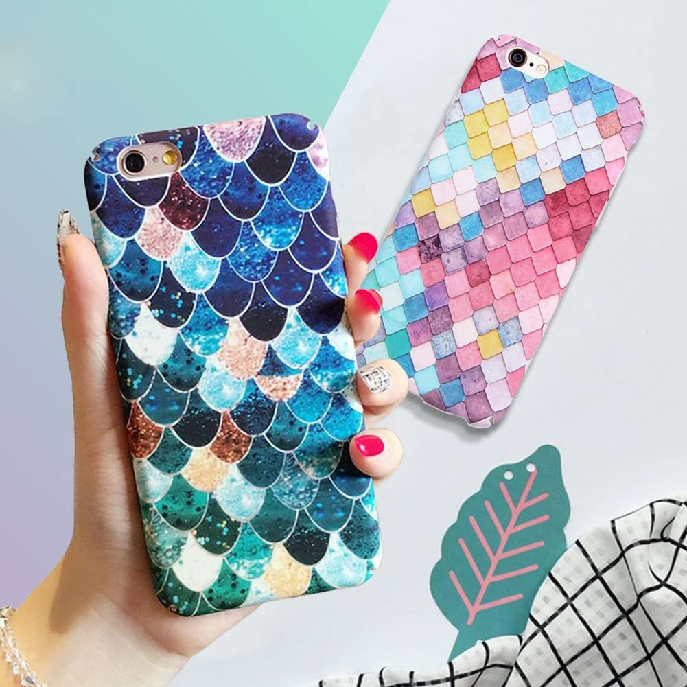 Mixneer iPhone X Case, Luxury Ideas Mermaid 3D Scales Case Girly Back Cover for Apple iPhone X 5.8 Inch - Colorful