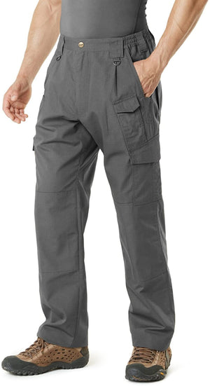 Men's Tactical Pants, Water Repellent Ripstop Cargo Pants, Lightweight EDC Hiking Work Pants, Outdoor Apparel