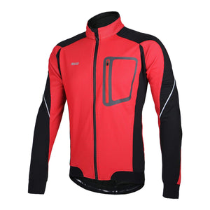 Bluesea Winter Thermal Fleece Cycling Jacket Windproof 14D