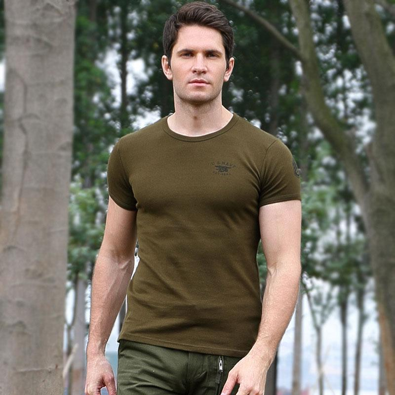 60%-Casual Cotton Round Neck Military Men T-shirt
