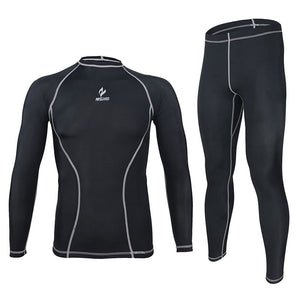Bluesea Athletic compression tights base layer running Fitness bodybuilding men  GYM Clothes shirt pant jersey suit  C091