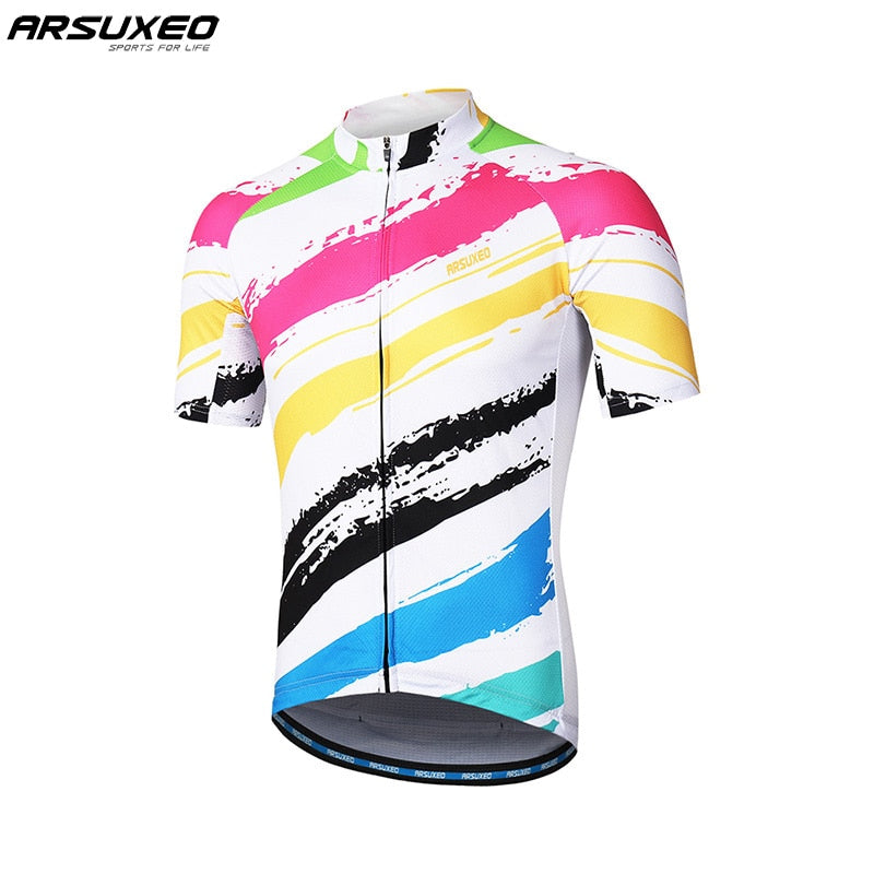 Men Short Sleeves Cycling Jersey Quick Dry MTB Jersey