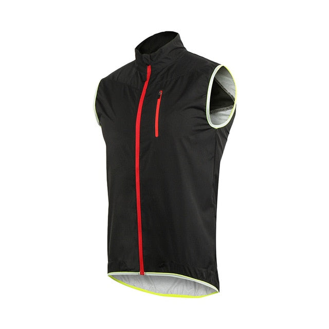 Bluesea Men Women Cycling Vest Windproof Waterproof Running Vest MTB Bike Bicycle Reflective Clothing Sleeveless Cycling Jacket