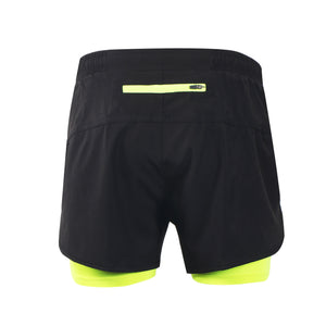 Bluesea Men's Running Shorts Outdoor Sports Training Exercise Jogging Gym Fitness 2 in 1 Shorts with Longer Liner Quick dry B179