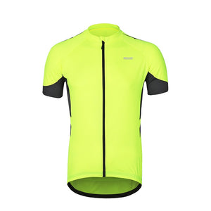 Bluesea Men's Short Sleeves Cycling Jersey Quick Dry Zipper Bike Jerseys Bicycle Shirt MTB Mountain Clothing Wear Breathable 636