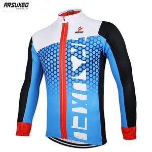 Bluesea Men's Spring Autumn Cycling Jersey Bike Bicycle Long Sleeves Mountain MTB Jersey Clothing Shirts ZLJ21-Q