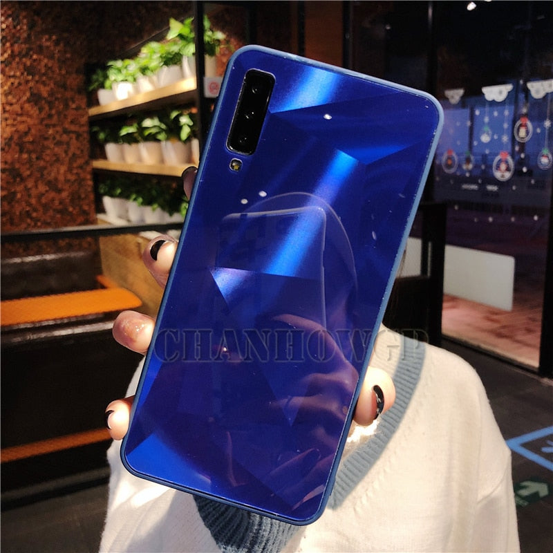 Diamond Mirror Case For Samsung Galaxy A70 A50 A30 A10 M30 M20 M10 S10 S10e S8 S9 A9 A7 A8 J4 J6 J8 Plus 2018 Note9 Soft Cover