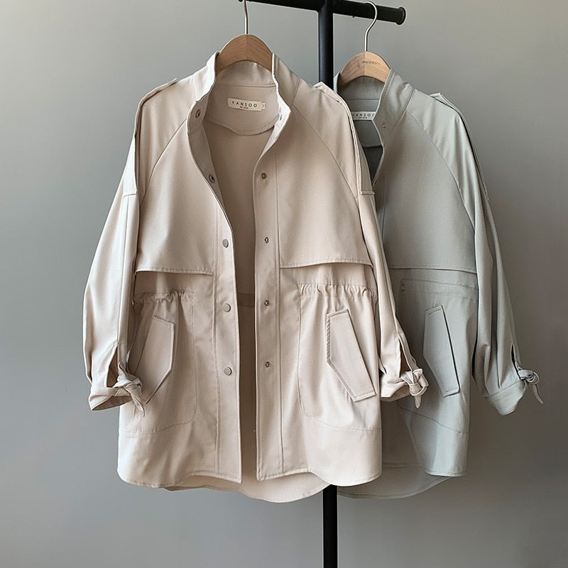Fashion Trench Coat Female Autumn Windbreaker