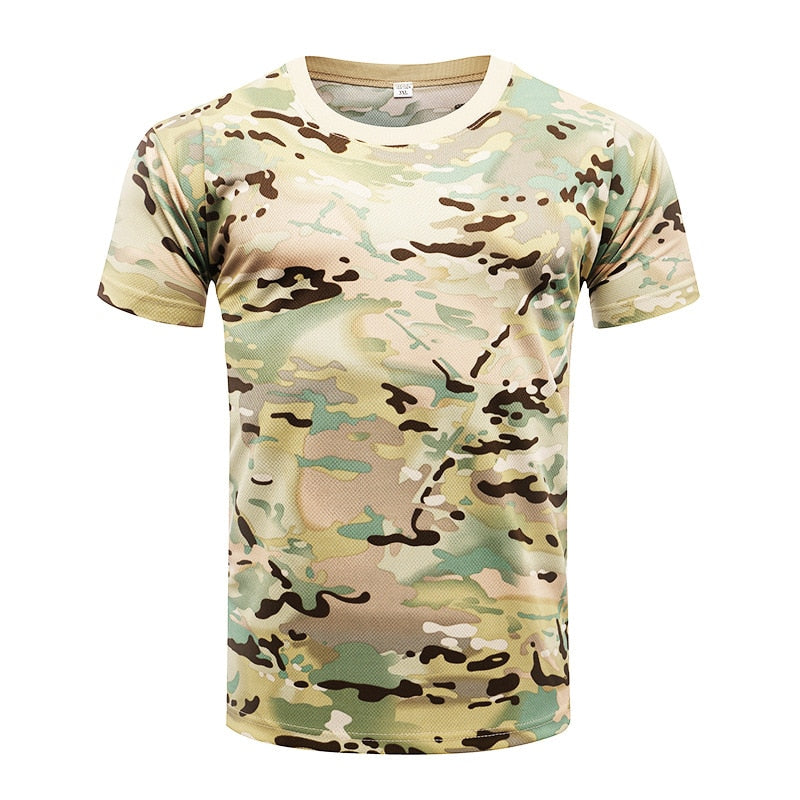Men T shirt  Tactical Quick Drying Hiking T-Shirt
