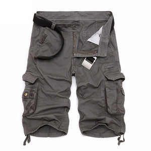 Summer Men's Camo Cargo Shorts Cotton Military Camouflage Male Jogger Board Shorts Men Brand Clothing SA495