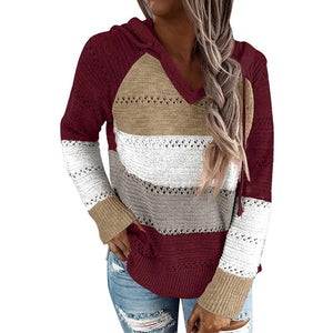 Womens Hooded Sweater Knit Hoodies