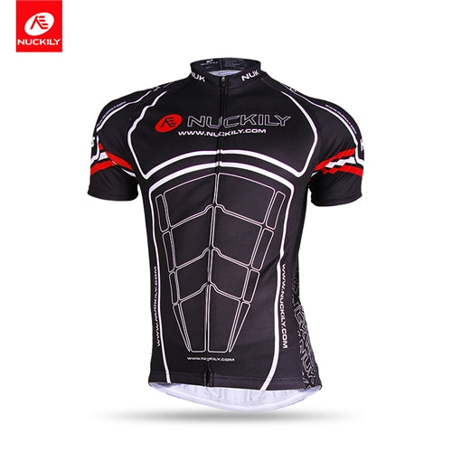 NUCKILY Cycling Jersey Men Summer Sun Protection Polyester Bicycle Clothing Sport Shirt Dress For Men AJ232