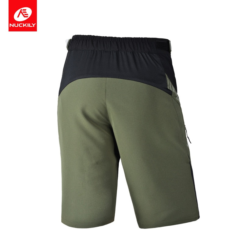 NUCKILY Men Shorts Bike Road Mtb Mountain Riding Bicycle Shorts Pant Breathable Reflective Outdoor Sports Cycling Leisure Shorts
