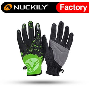 NUCKILY Screen Touch Summer Breathable Mesh Full Finger Sport Gloves  PD01