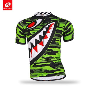 NUCKILY Summer Cycling Jersey Short Sleeve Bike Wear Polyester Bicycle Apparel Custom Size Color Design Clothes For Men MA005