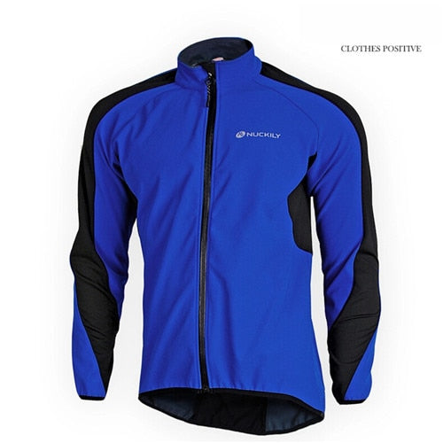 NUCKILY Windproof Thermal Fleece Cycling Jersey