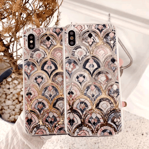 2019 luxury fashion fish-scale quicksand phone case