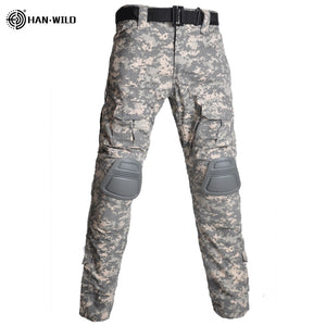 Outdoor   Camouflage Shirts Cargo Pants Elbow/Knee Pads Suits