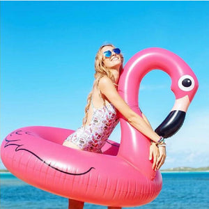 bluesea 120cm Flamingo Inflatable Swimming Ring for Pool Adult Baby Swimming Ring Float Swim Circle Pool Toys Beach Party Supply