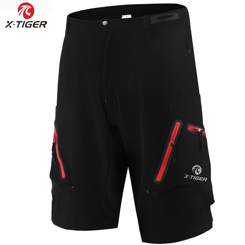 Men MTB Cycling Shorts With Coolmax 5D Gel Padded Cycling Underwear Pro Mountain Bike Loose Outdoor Downhill Shorts