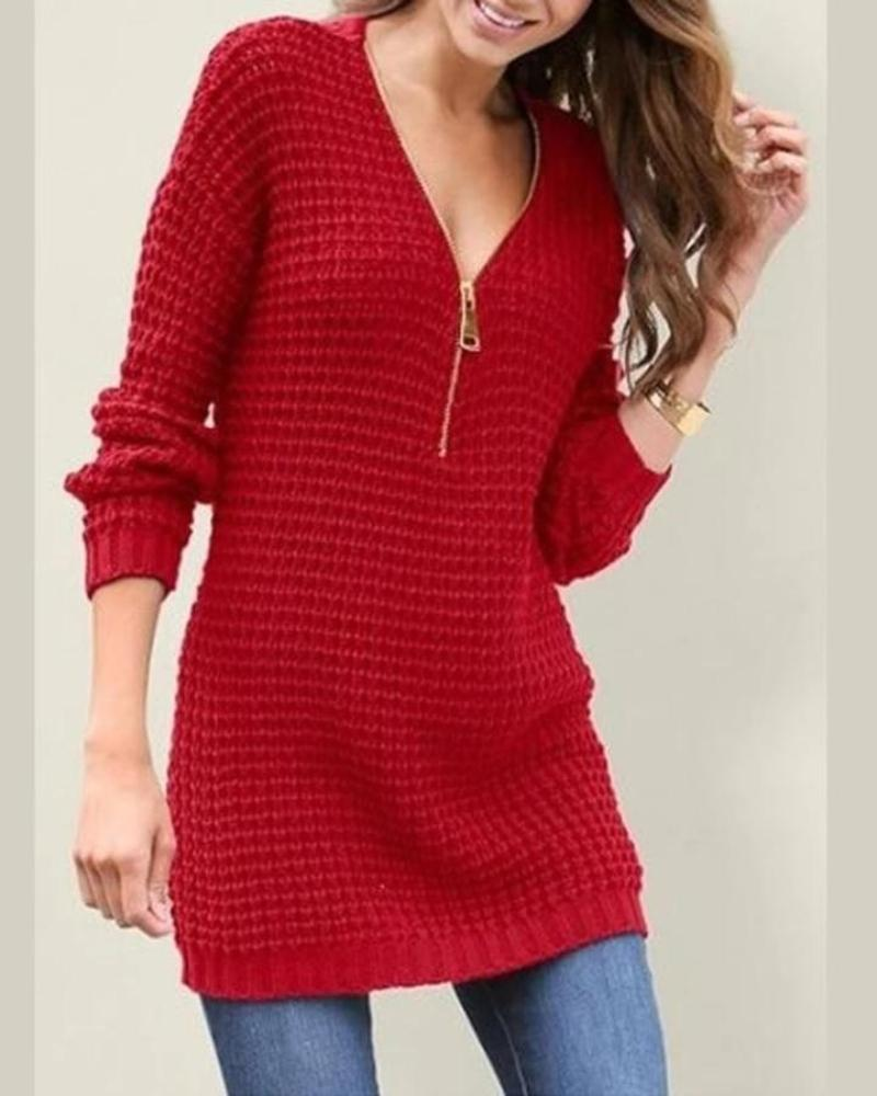 V Neck Sweater